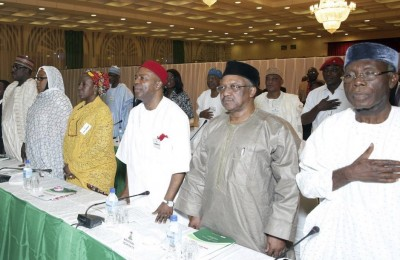Ministerial retreat for newly appointed ministers by President Muhammadu Buhari, Nov 2015.